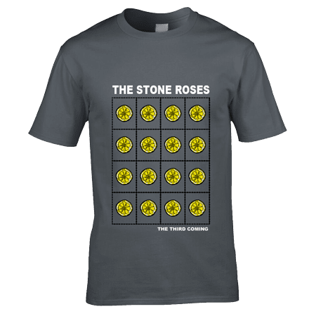 The Stone Roses 2016 Third Coming T-Shirt featuring 16 lemon acid trips.